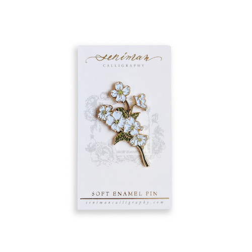 Dogwood Gold Soft Enamel Pin