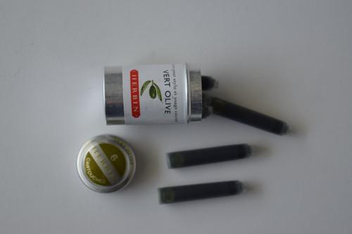 Herbin Ink Cartridges- Vert Olive