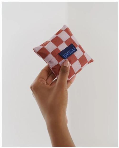 Rose Checkerboard Baby Baggu