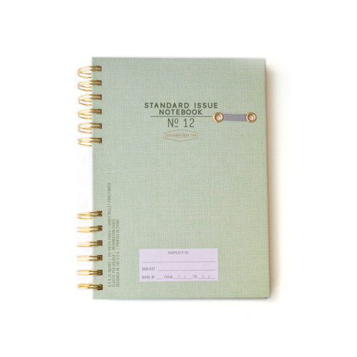 Green Standard Issue Notebook