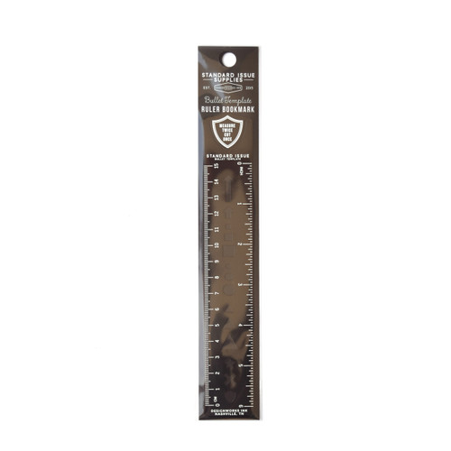 "Black Standard Issue 6"" Ruler"
