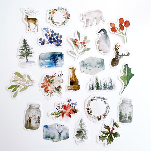 Blue Forest Mist Stickers Pack