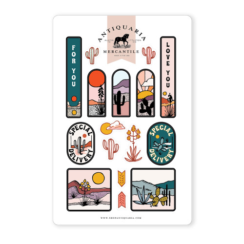 Cactus Correspondence Sticker Sheet