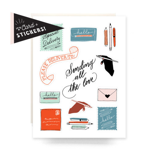 Sticker Sheet Greeting Card: All the Love