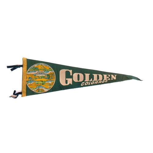 Golden Colorado Vintage Pennant
