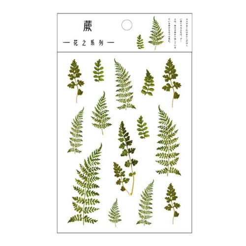 Pressed Flower Stickers | Fern Forest