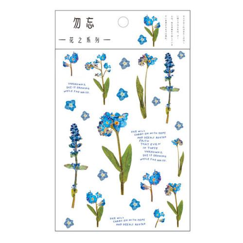 Pressed Flower Stickers | Indigo Bouquet