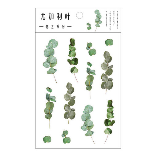 Pressed Flower Stickers | Eucalyptus