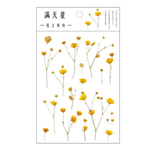 Pressed Flower Stickers   Dried Botanicals