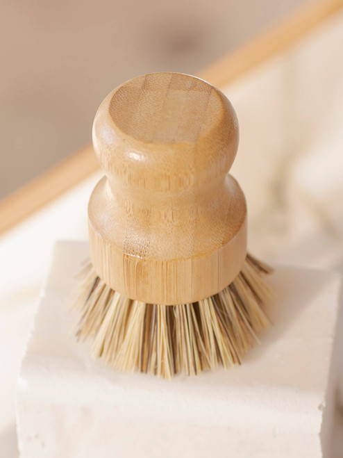 Pot Scrubber| White Teakwood Handle