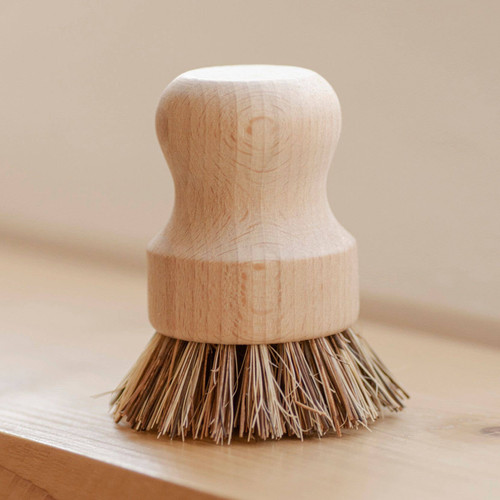 Pot Scrubber| White Teakwood Handle