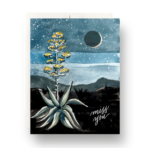 Agave Miss You Greeting Card