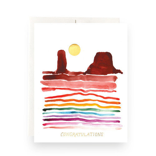 Rainbow Congratulations Greeting Card