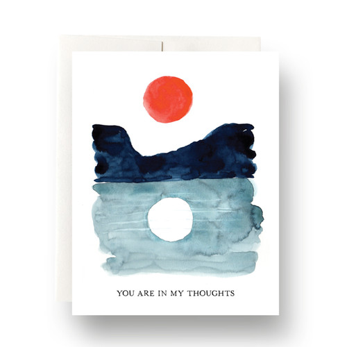 Sun & Moon In My Thoughts Greeting Card