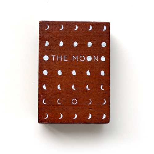 Minimal Typographic Moon Phases Stamp