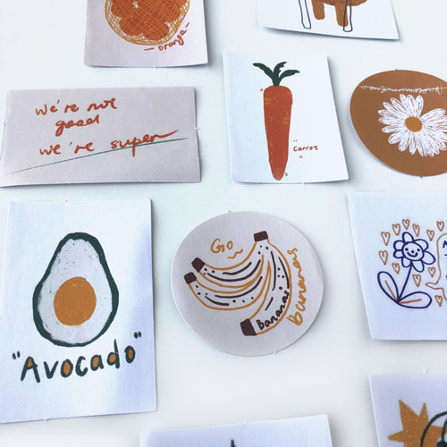 Pineapple & Oasis Stickers Pack | Set of 60