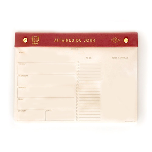 """Affaires Du Jour"" Desk Calendar"