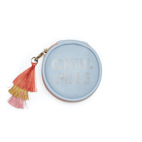 "Vegan Leather Pill Box with Tassel - ""Chill Pills"""