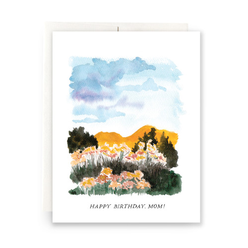 Landscape Happy Birthday, Mom Greeting Card