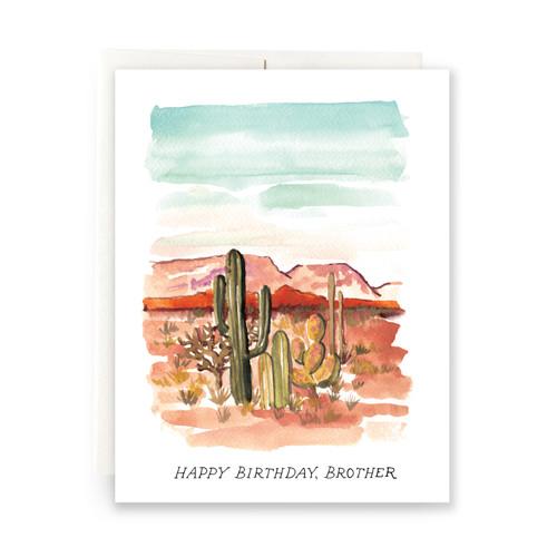 Desert Brother Birthday Greeting Card
