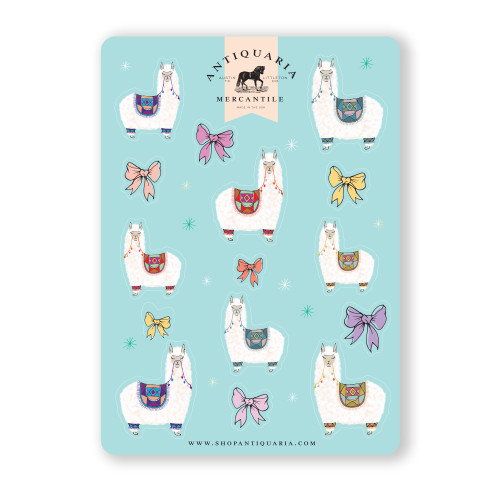 Sticker Sheet: Alpacas
