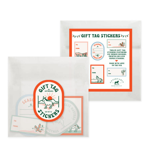 Gift Tag Stickers: Retro Cactus
