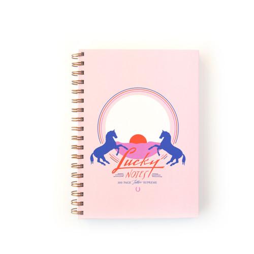 Lucky Notes Wild Horses, Spiral Bound Notebook