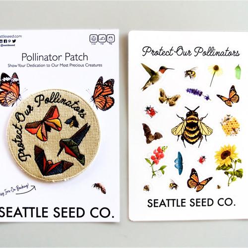 Pollinator Pride Patch & Sticker Kit