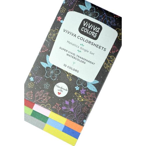 Watercolor Colorsheets - Metallic Single Set