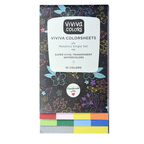 Watercolor Colorsheets - Metallic Single Set