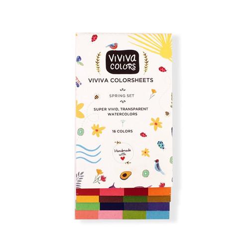 Watercolor Colorsheets- Spring Single Set- 16 Colors