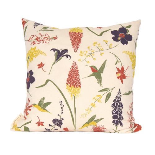 Hummingbird Garden Pillow Cover
