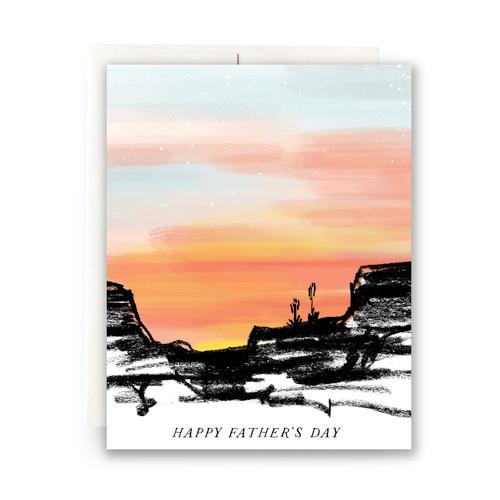 Desert Sunset Father's Day Greeting Card