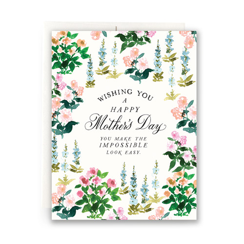 Spring Garden Mother's Day Greeting Card