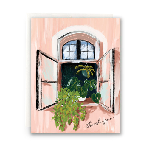 Windowbox Thank You Greeting Card