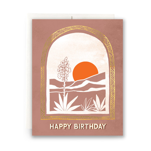 Desert Vista Birthday Greeting Card