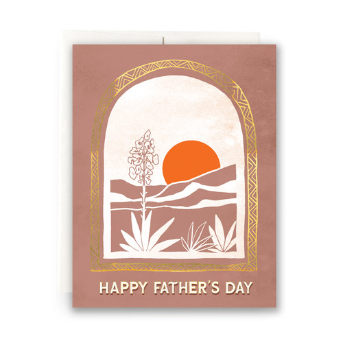 Desert Vista Father's Day Greeting Card
