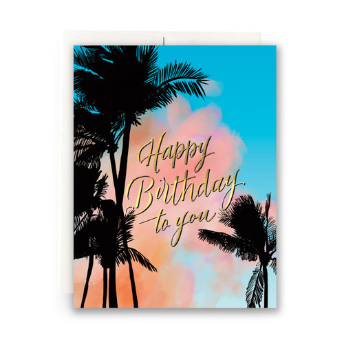 Palms Birthday Greeting Card