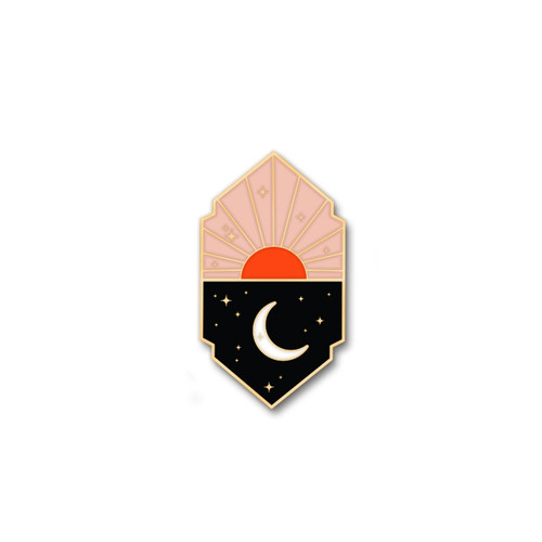 Sun & Moon Enamel Pin