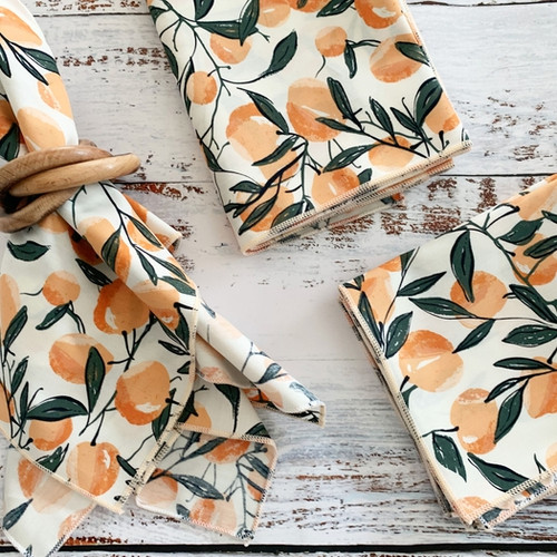 Apricot Cloth Napkins, set of four