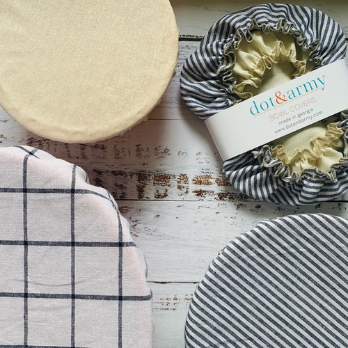 Classic Reusable Fabric Bowl Covers- set of three
