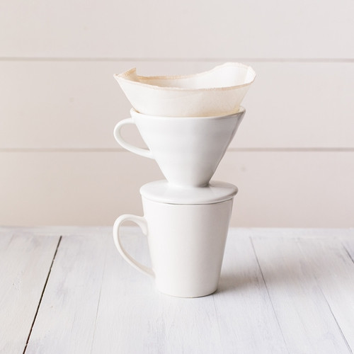 Reusable Coffee Cone Filters- Organic Cotton, set of two