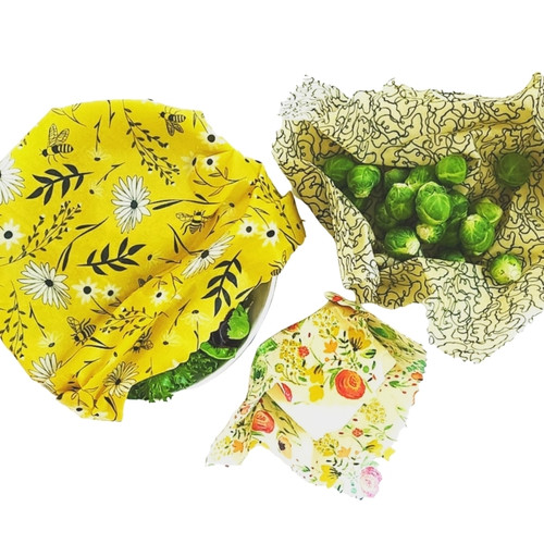 Assorted Print Beeswax Food Wraps