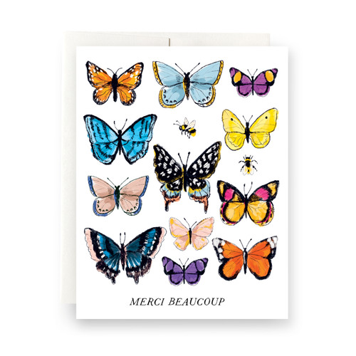 Butterfly Merci Greeting Card