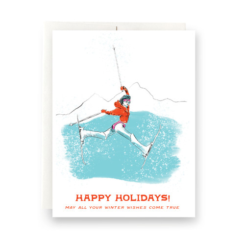 Winter Wishes Greeting Card