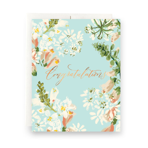 Sky Floral Congratulations Greeting Card