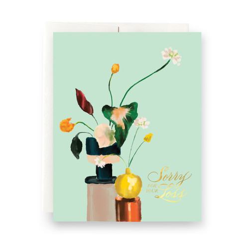 Houseplant Sorry for your Loss Greeting Card