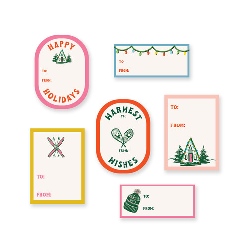 Gift Tag Stickers: Mountain Cabin