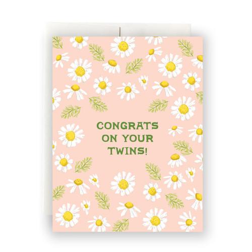 Daisies Twins Greeting Card