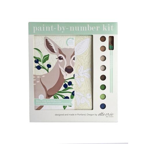 Deer with Huckleberries Paint-by-Number Kit